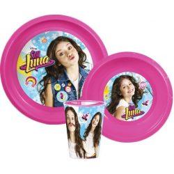 Soy Luna műanyag étkészlet