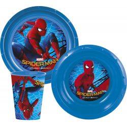 Pókember műanyag étkészlet