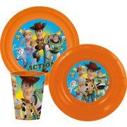 Toy Story műanyag étkészlet