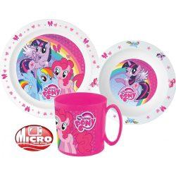 My Little Pony micro műanyag étkészlet, nagy bögrével