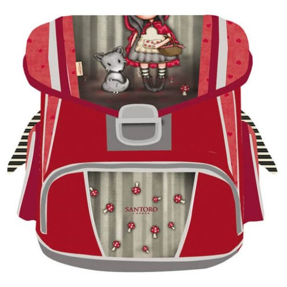 Santoro Gorjuss ergonomikus iskolatáska, 38 cm, Little Red Riding Hood