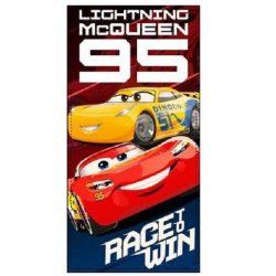 Verdák fürdőlepedő, törölköző 70*140 cm, kék-piros, Race to Win