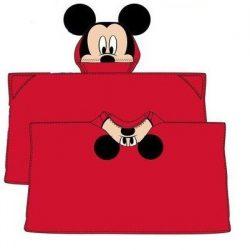 Mickey kapucnis plüss takaró 80*120 cm