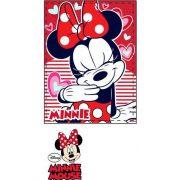 Minnie plüss takaró 90*120 cm, piros