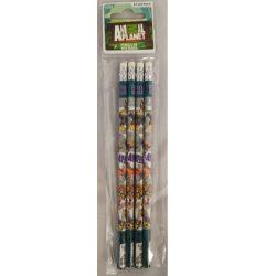 Animal Planet grafit ceruza radírral, 4db/csomag