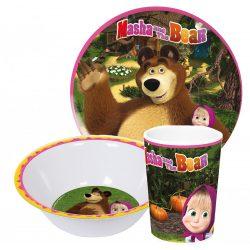Mása és a medve melamin étkészlet
