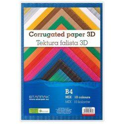 Hullámpapír, B4 250x353mm 3D, vegyes színek, 10lap/cs