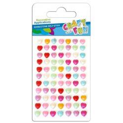 Gyöngyök, öntapadós, szív alakú