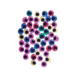 Mozgó szemek színes 10mm 50 db