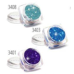 Csillámpor készlet, 3 db-os, kék árnyalatok