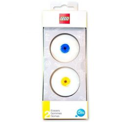 Lego radír, 2db-os, kék-sárga