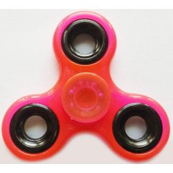 Foszforeszkáló Fidget Spinner, ujjpörgettyű, rózsaszín